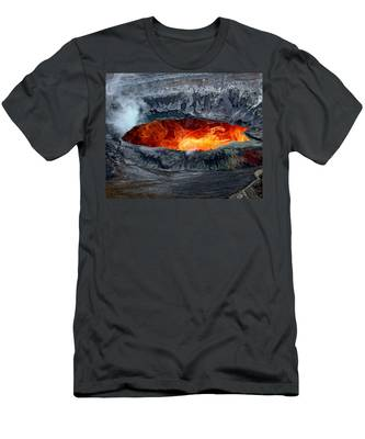 Volcanic Eruption Men's T-Shirt (Athletic Fit)