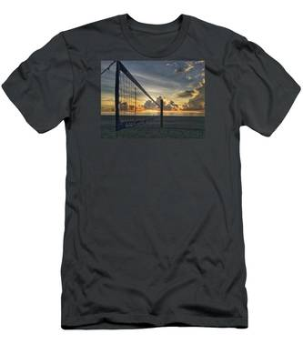 Volleyball Sunrise Men's T-Shirt (Athletic Fit)