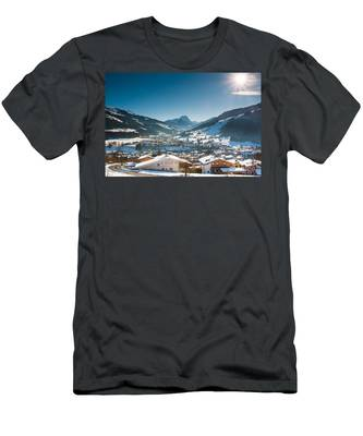 Warm Winter Day In Kirchberg Town Of Austria Men's T-Shirt (Athletic Fit)