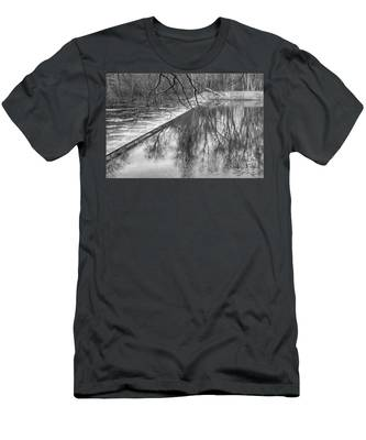 Water Flowing Over Dam In Wayne New Jersey Men's T-Shirt (Athletic Fit)