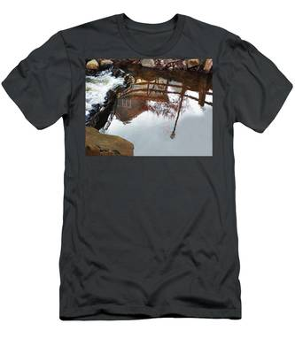 Waterfall From Calm Waters Men's T-Shirt (Athletic Fit)