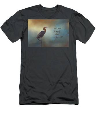 What A Wonderful World Men's T-Shirt (Athletic Fit)
