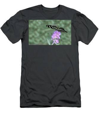 Zebra Longwing Butterfly  Men's T-Shirt (Athletic Fit)