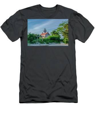 New Jersey - East Point Lighthouse Men's T-Shirt (Athletic Fit) by Bill Cannon