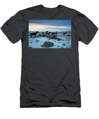 Winter Evening Men's T-Shirt (Athletic Fit)