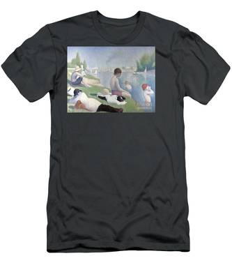 Bathers At Asnieres Men's T-Shirt (Athletic Fit)