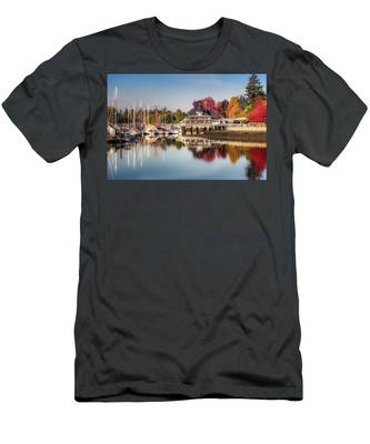 Colorful Autumn Foliage At Stanley Park Men's T-Shirt (Athletic Fit) by Andy Konieczny