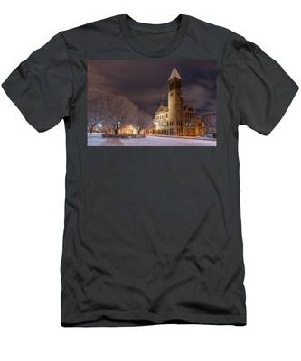 Men's T-Shirt (Athletic Fit) featuring the photograph Albany City Hall by Brad Wenskoski