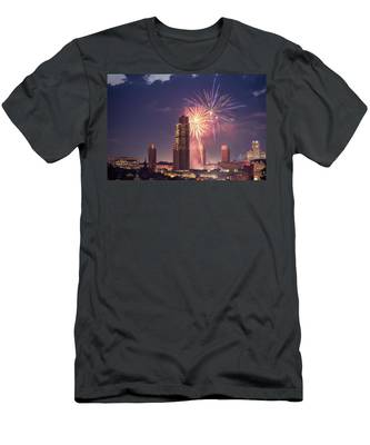 Albany Fireworks 2019 Men's T-Shirt (Athletic Fit) by Brad Wenskoski
