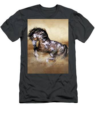 Wild And Free Horse Art Men's T-Shirt (Athletic Fit)