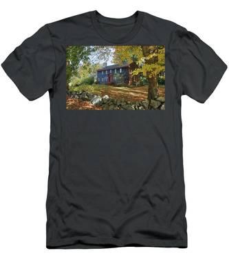 Autumn At Short House Men's T-Shirt (Athletic Fit)