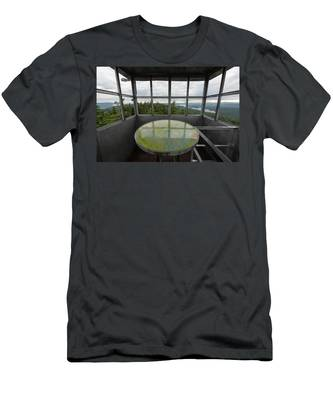 Men's T-Shirt (Athletic Fit) featuring the photograph Bald Mountain Firetower Ne by Brad Wenskoski