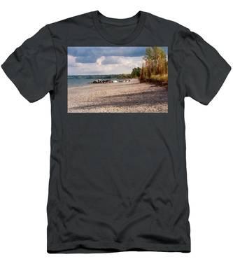 Beach Storm Men's T-Shirt (Athletic Fit)