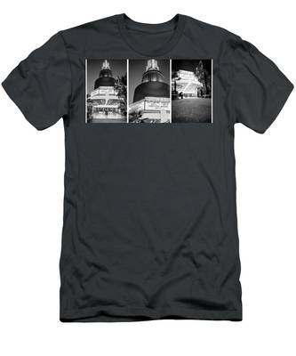 Black And White Triptych- Men's T-Shirt (Athletic Fit)