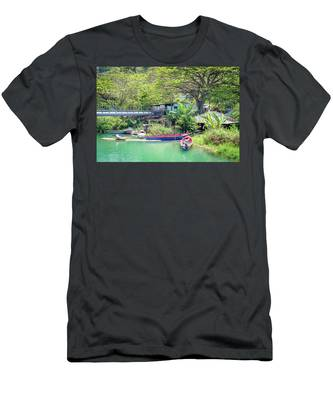 Boat And Rafting Tours Men's T-Shirt (Athletic Fit)