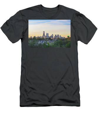 Cityscape - Philadelphia - City Of Brotherly Love Men's T-Shirt (Athletic Fit) by Bill Cannon
