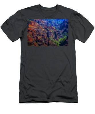 Colorful Mountains Of Kauai Men's T-Shirt (Athletic Fit)