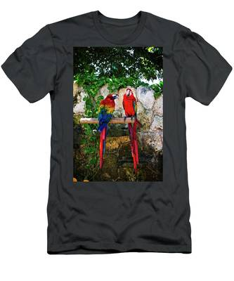 Colorful Parrots Men's T-Shirt (Athletic Fit)