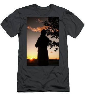 Corby At Sunset Men's T-Shirt (Athletic Fit)