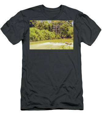 Country River In Trelawny Jamaica Men's T-Shirt (Athletic Fit)