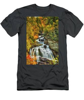Cullasaja Falls Men's T-Shirt (Athletic Fit)