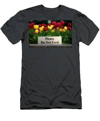 Dont Feed The Tulips Men's T-Shirt (Athletic Fit)