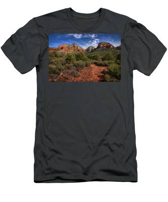 Dramatic Cloudscape Over Capitol Butte Men's T-Shirt (Athletic Fit)