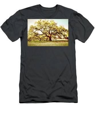 Emancipation Oak Men's T-Shirt (Athletic Fit) by Ola Allen