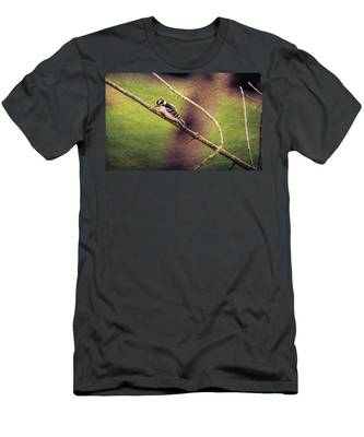 Faded Canvas Woodpecker Men's T-Shirt (Athletic Fit)