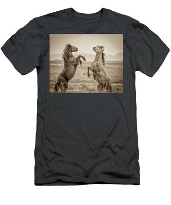 Fighting Stallions 2 Men's T-Shirt (Athletic Fit)