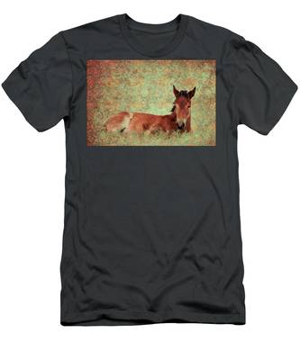 Flowery Foal Men's T-Shirt (Athletic Fit)