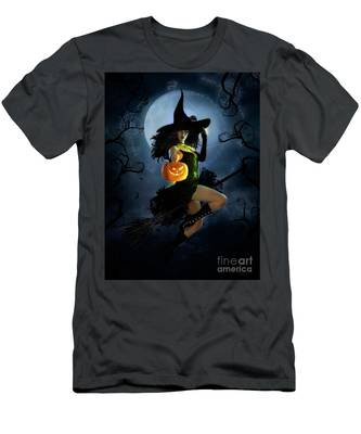 Fly By Night Halloween Men's T-Shirt (Athletic Fit)