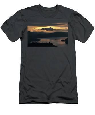 Fourth Lake First Light Men's T-Shirt (Athletic Fit) by Brad Wenskoski