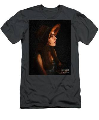 Girl In Hat Men's T-Shirt (Athletic Fit)