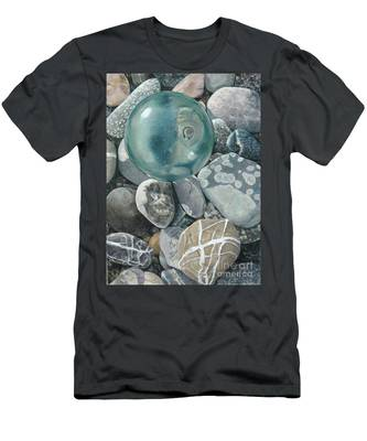 Glass Float And Beach Rocks Men's T-Shirt (Athletic Fit)