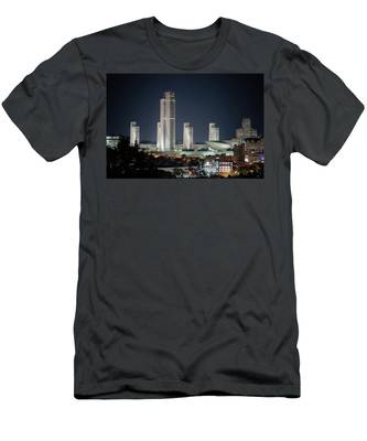 Men's T-Shirt (Athletic Fit) featuring the photograph Goodnight Albany by Brad Wenskoski