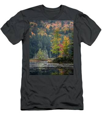 Men's T-Shirt (Athletic Fit) featuring the photograph Loon Lake by Brad Wenskoski