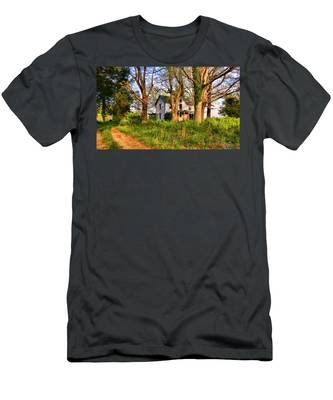 Men's T-Shirt (Athletic Fit) featuring the photograph Lost And Abandoned  by Ola Allen