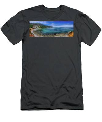Marine Layer Over Bluff Cove Panorama Men's T-Shirt (Athletic Fit)