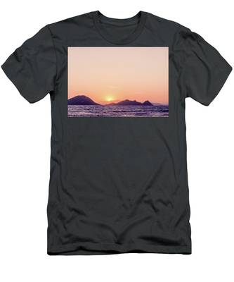 Men's T-Shirt (Athletic Fit) featuring the photograph Mediterranean Sunset II by Anne Leven