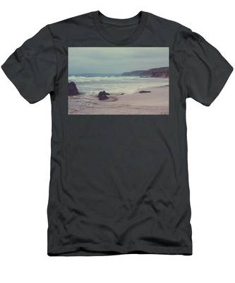 Men's T-Shirt (Athletic Fit) featuring the photograph Ocean Coast I by Anne Leven