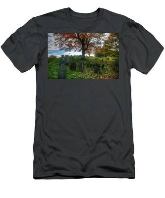 Old Hill Burying Ground In Autumn Men's T-Shirt (Athletic Fit)