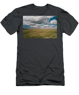 Men's T-Shirt (Athletic Fit) featuring the photograph One Happy Dog by Carl Young