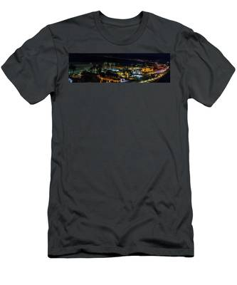 Palisades Park Night - Panorama Men's T-Shirt (Athletic Fit)