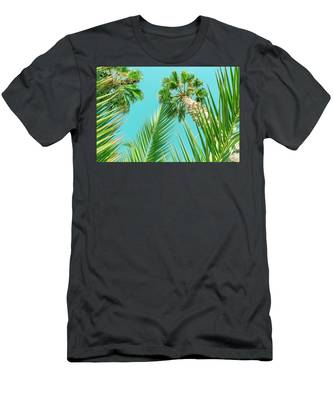 Palm Trees I Men's T-Shirt (Athletic Fit) by Anne Leven
