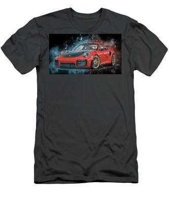 Porsche 911 Gt2 Men's T-Shirt (Athletic Fit)