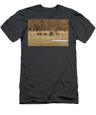 Rafter Of Wild Turkeys Men's T-Shirt (Athletic Fit)