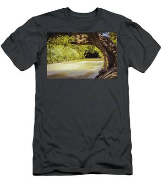 River Banks In Trelawny Jamaica Men's T-Shirt (Athletic Fit)