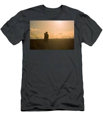 Men's T-Shirt (Athletic Fit) featuring the photograph Sarah In Sunlight by Carl Young
