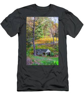 Springhouse On Wises Mill Rd - Roxborough Philadelphia Men's T-Shirt (Athletic Fit) by Bill Cannon